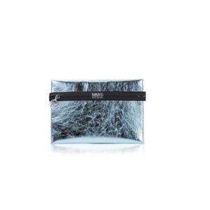 Metallic Exposed Zipper Pouch